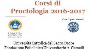 corsi proctologia 2016-2017-corso proctologia generale