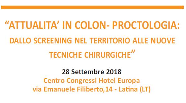 Attualita in Colon-Proctologia 2018