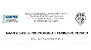 Masterclass in proctologia e pavimento pelvico 2018