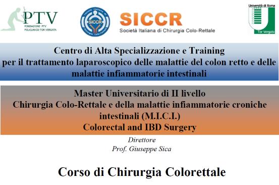 Corso teoricopratico di Chirurgia colo-rettale 2019
