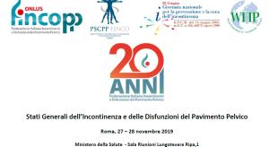 Stati Generali dell'Incontinenza e delle Disfunzioni del Pavimento Pelvico 2019