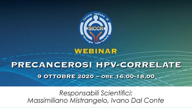PRECANCEROSI HPV-CORRELATE - Webinar